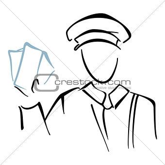 Postman on sketch