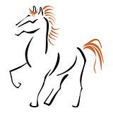 Stallion at sketch