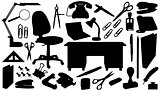office_tools_silhouettes