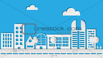 Abstract Paper City in Vector illustration