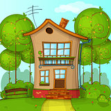 Vector Illustration of Cartoon House