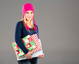 Blonde Holiday Shopper