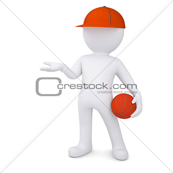 3d basketball player with the ball