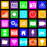 Application colorful icons on black background