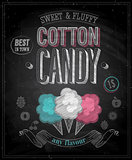 Vintage Cotton Candy Poster - Chalkboard.