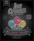 Vintage Ice Cream Poster - Chalkboard.