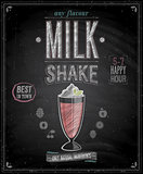Vintage MilkShake Poster - Chalkboard.