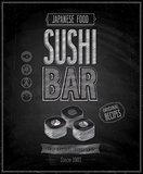 Vintage Sushi Bar Poster - Chalkboard.