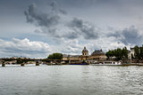 Pont des Arts Bridge and French Institute, Paris, France