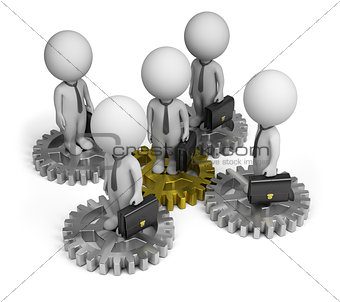 3d small people - business team