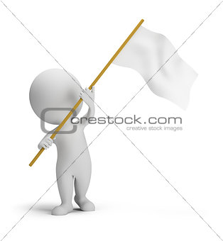 3d small people - flag