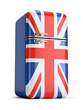British retro fridge