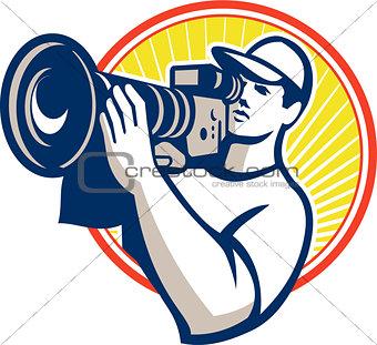 Cameraman Film Crew HD Video Camera