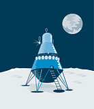 Lunar Module on the Moon