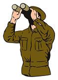 Man Looking Binoculars