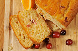 Cranberry orange bread from above