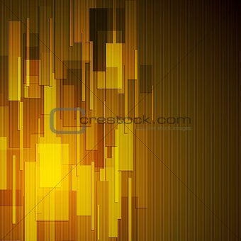 Abstract dark yellow tech background