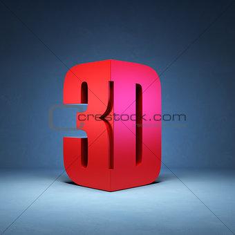 3D technology symbol
