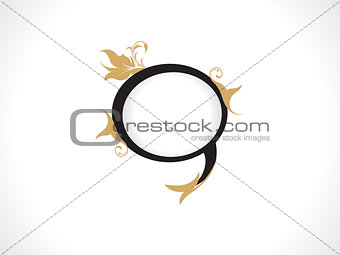 abstract artistic golden chat icon