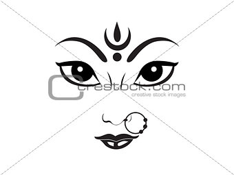 abstract artistic durga godess wallpaper