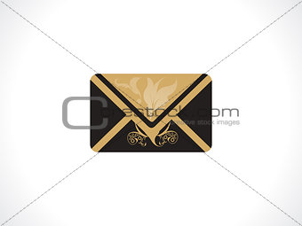 abstract artistic golden mail icon