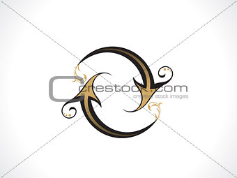 abstract artistic golden refresh icon