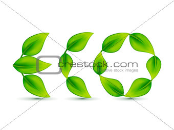abstract leaf based eco text