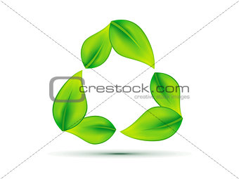 abstract leaf based eco recycle icon