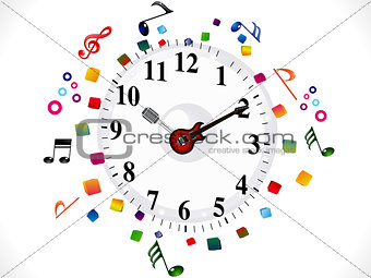 abstract musical clock background