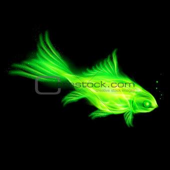 Green fire fish.
