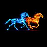 Fire horses.