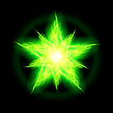 Green fire star.
