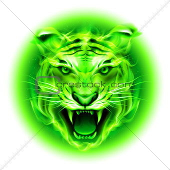 Green fire tiger.