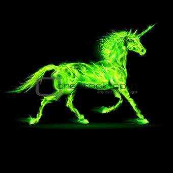 Green fire unicorn.