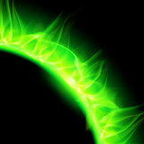 Solar corona in green.