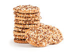 cookies with sunflower and sesame seeds