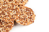 cookie with sunflower and sesame seeds