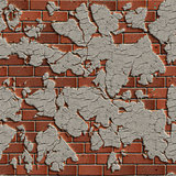 Terracotta Brick Wall. Seamless Tileable Texture.