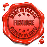 Made in France - Stamp on Red Wax Seal.