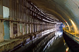 Underground Tunnel with Water.
