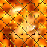 Golden Pattern. Seamless Tileable Texture.