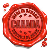 Made in Canada - Stamp on Red Wax Seal.