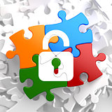 Security Concept on Multicolor Puzzle.