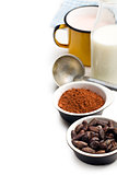 cocoa beans, cocoa powder and ingredients