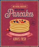 Vintage Pancakes Poster.