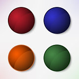 Color set of round blank buttons