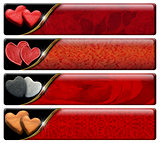 Four Romantic Headers with clipping path