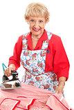 Sweet Grandma Ironing
