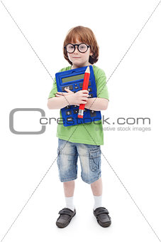 Boy genius concept