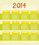 Calendar of year 2014